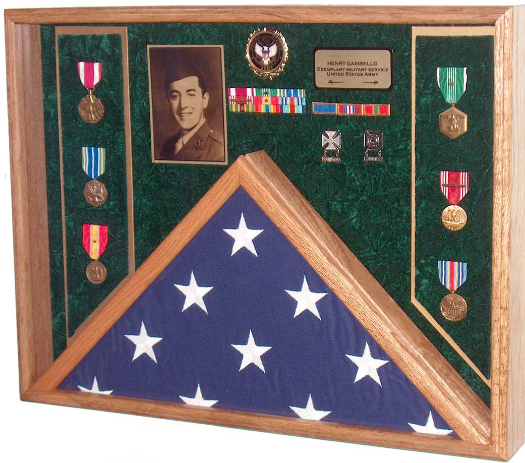Burial Flag & Medal Display Case Shadow Box