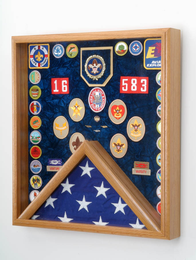 Scout Patch / Awards & flag Display Case #44