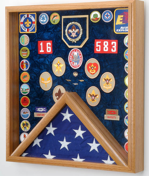 Boy Scouts Flag And Awards Display Case Www